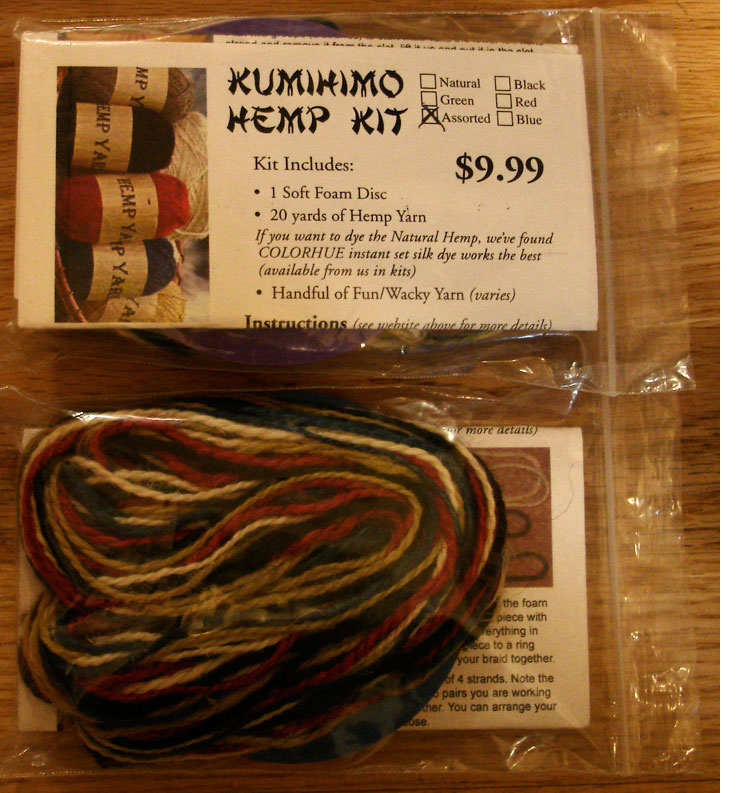 kumihimo japanese hemp kit